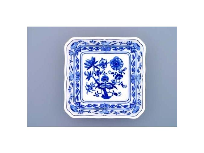 Mísa salátová čtyřhranná  18 cm,  cibulák, Český porcelán