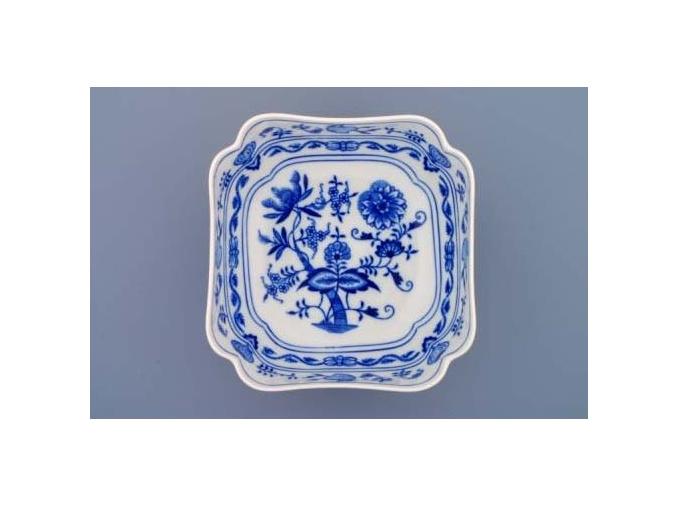 Mísa salátová čtyřhranná vysoká  18 cm,  cibulák, Český porcelán