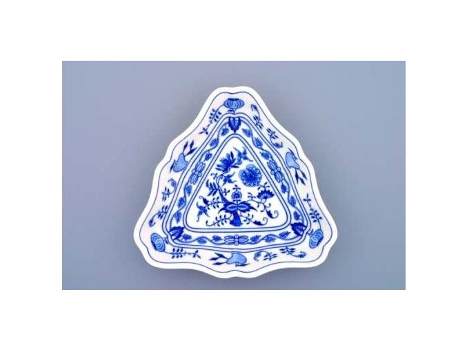 Mísa salátová tříhranná  19,5 cm,  cibulák, Český porcelán