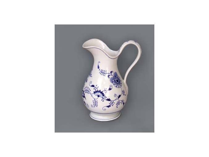 Hygienická souprava - džbán  35 cm,  cibulák, Český porcelán