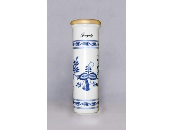 Dóza na špagety  28,4 cm, cibulák, Český porcelán
