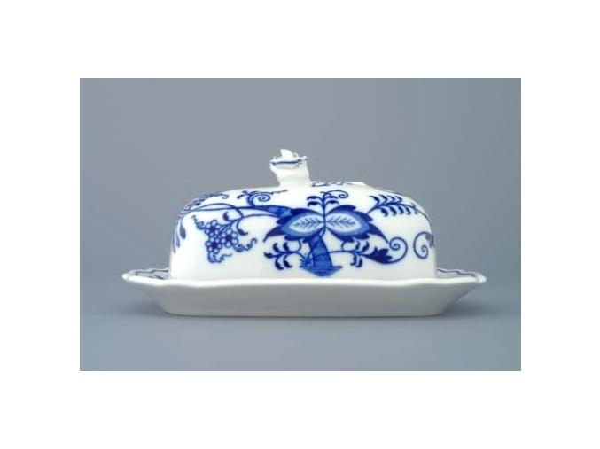 Máslenka hranatá malá - komplet 2 dílná 450 g, cibulák, Český porcelán