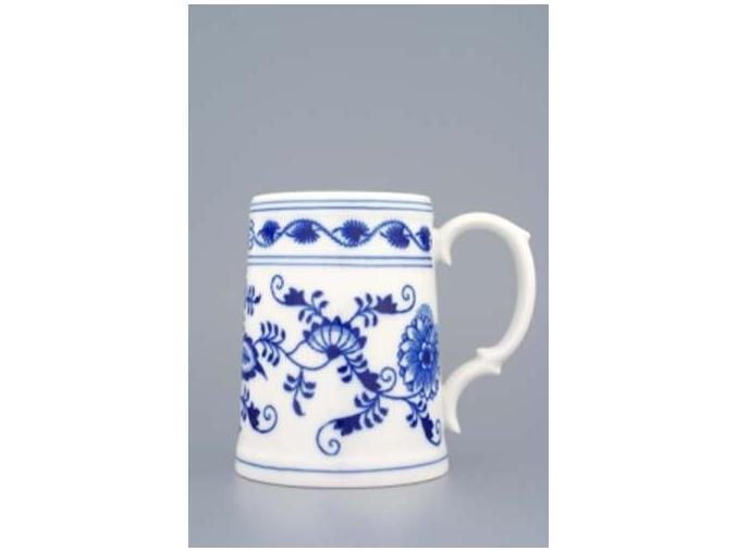 Korbel hladký  0,50 l, cibulák, Český porcelán