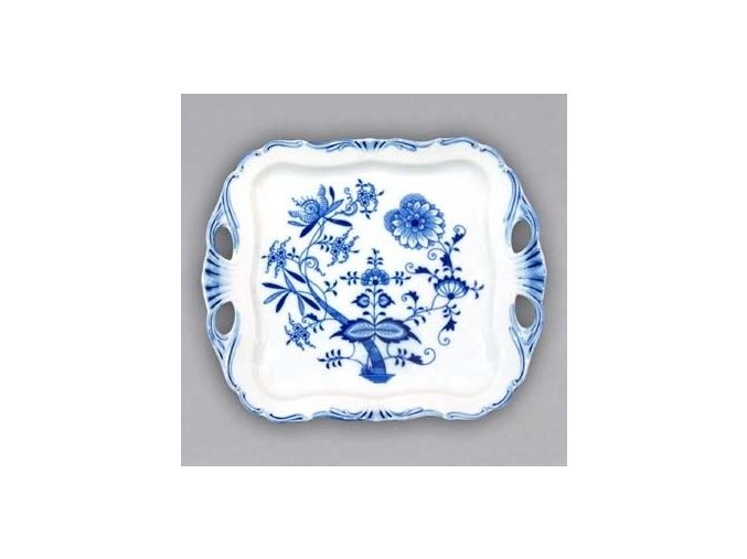 Podnos Aida čtvercový  30 x 25 cm, cibulák, Český porcelán