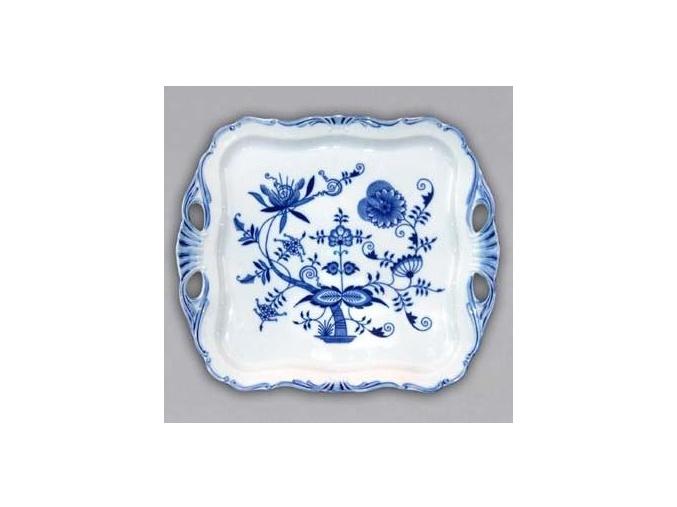 Podnos Aida čtvercový  34 x 29 cm, cibulák, Český porcelán