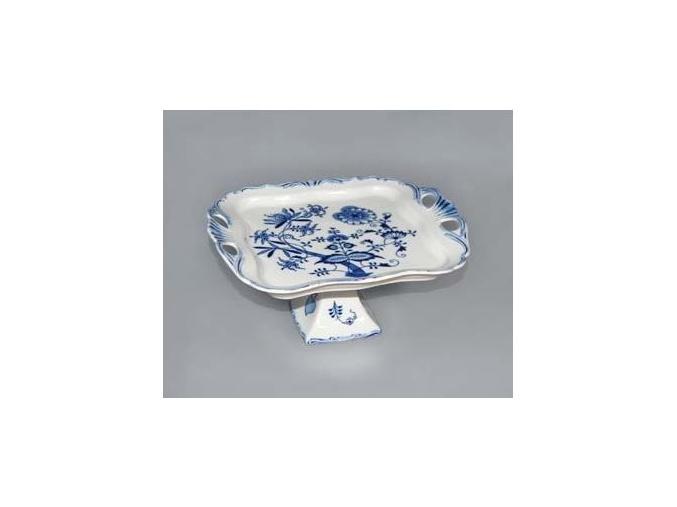 Podnos Aida čtvercový na noze  30 x 25 cm, cibulák, Český porcelán