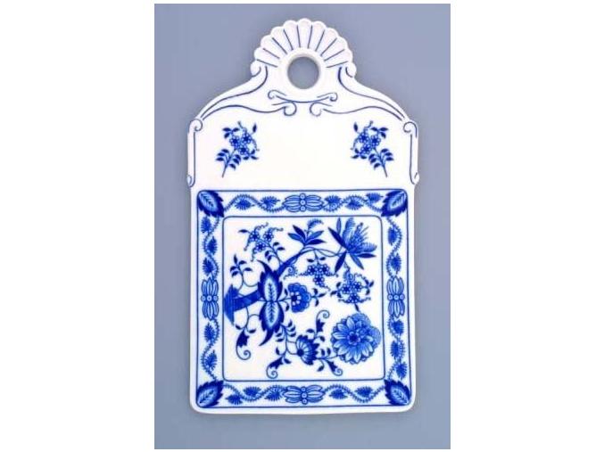 Podnos na chléb  27,5 cm, cibulák, Český porcelán