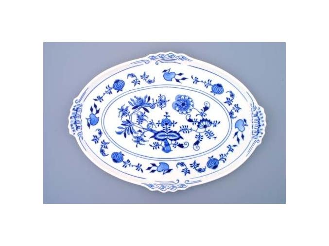 Podnos oválný  39 x 27 cm, cibulák, Český porcelán