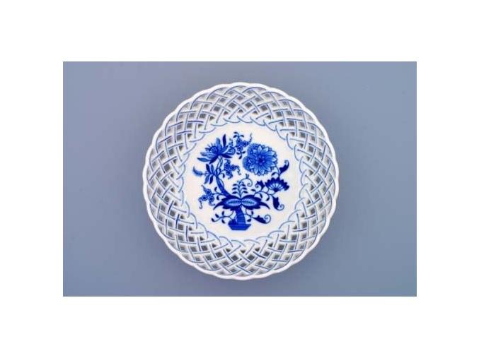 Mísa kulatá prolamovaná  18 cm, cibulák, Český porcelán