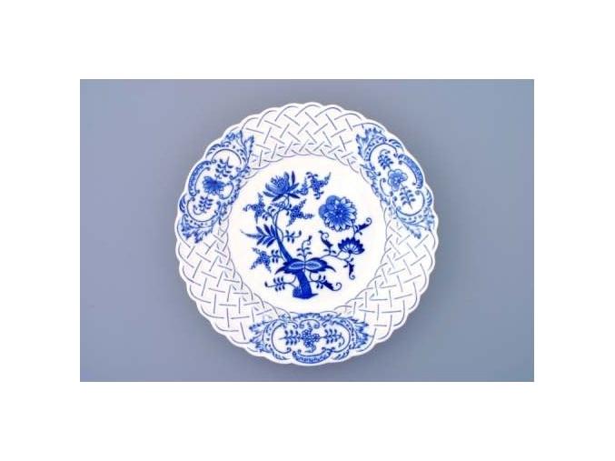 Talíř reliéfní  24 cm, cibulák, Český porcelán
