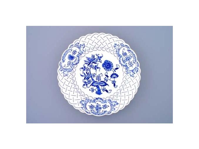 Talíř reliéfní  27 cm, cibulák, Český porcelán