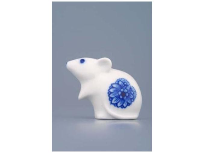Myš 5 cm, cibulák, Český porcelán