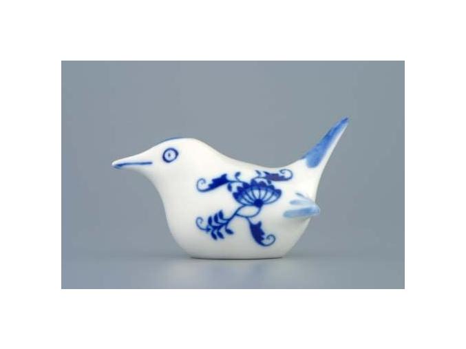 Ptáček 2 - malý  5 x 9 cm, cibulák, Český porcelán