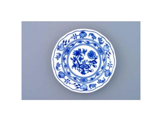 Talíř dezertní praporový 13 cm, cibulák, Český porcelán