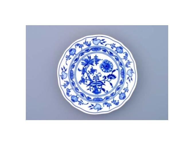 Talíř dezertní praporový 15 cm, cibulák, Český porcelán