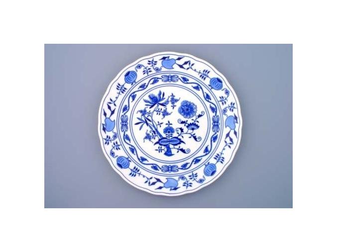 Talíř klubový 30 cm, cibulák, Český porcelán