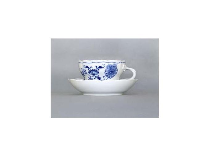 Šálek s podšálkem D 0,40 l, cibulák, Český porcelán