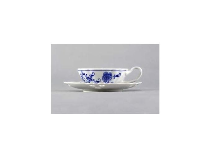 Šálek s podšálkem čaj ozdobné 0,20 l / 15,3 cm, cibulák, Český porcelán