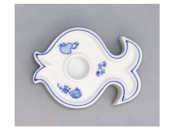 Svícen ryba 110 g, cibulák, Český porcelán