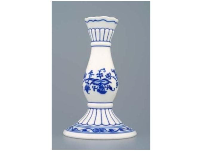 Svícen 1969 16 cm, cibulák, Český porcelán