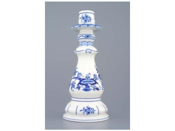 Svícen 1982 21,5 cm, cibulák, Český porcelán