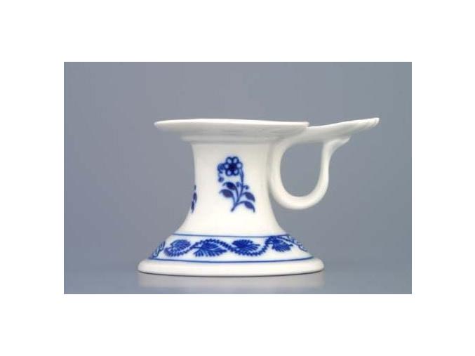 Svícen 1991 s ouškem 6,5 cm, cibulák, Český porcelán