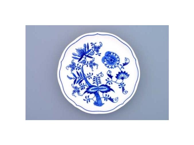Podšálek bujón 17,5 cm, cibulák, Český porcelán