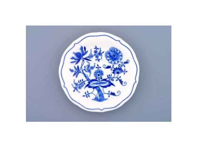 Podšálek zrcadlový nízký 15,5 cm, cibulák, Český porcelán