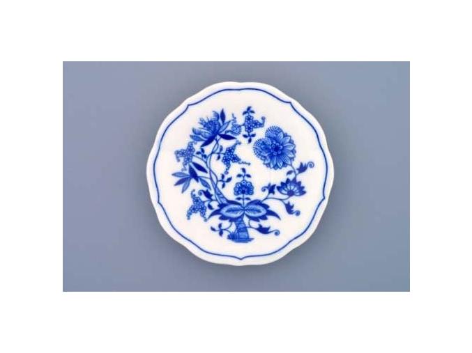 Podšálek zrcadlový nízký 12,4 cm, cibulák, Český porcelán