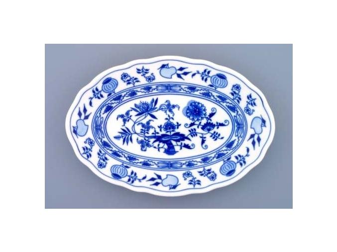 Mísa oválná, 24 cm, cibulák, Český porcelán