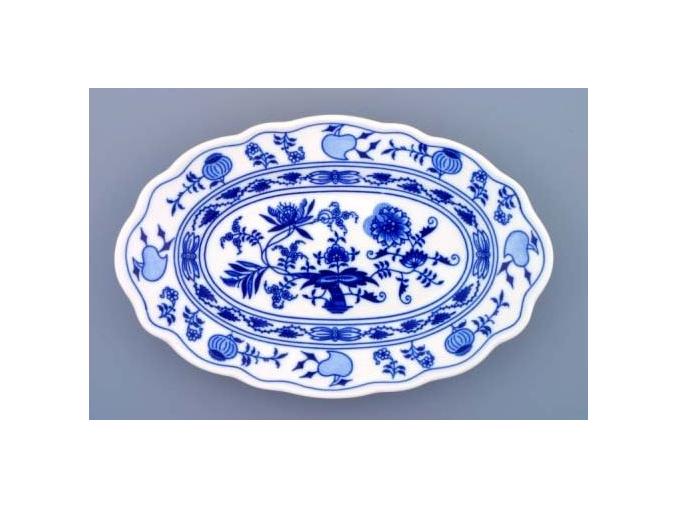 Mísa oválná, 28 cm, cibulák, Český porcelán