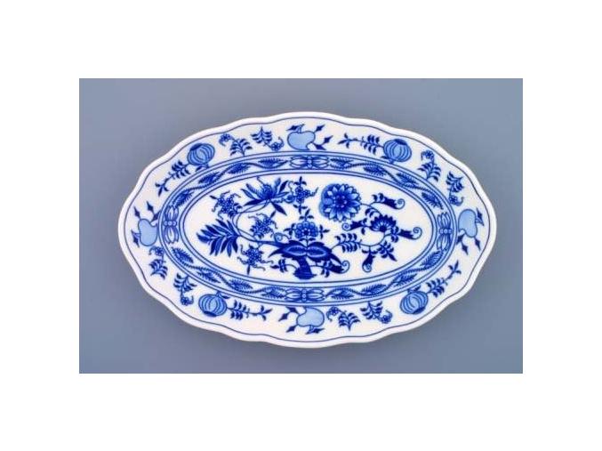 Mísa oválná, 31 cm, cibulák, Český porcelán