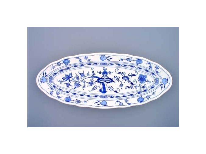 Mísa oválná na ryby, 57 cm, cibulák, Český porcelán