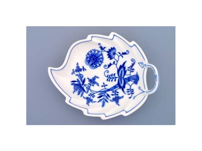 Mísa list, 19 cm, cibulák, Český porcelán