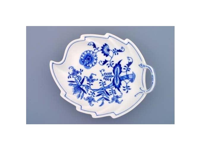 Mísa list, 22 cm, cibulák, Český porcelán