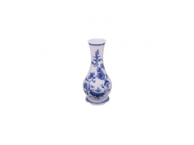 Porcelánová váza výšky 15,5 cm v dekoru cibulák, český porcelán Leander
