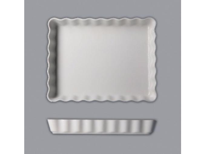 Mísa zapékací koláčová obdélníková, 31, bílá, Thun
