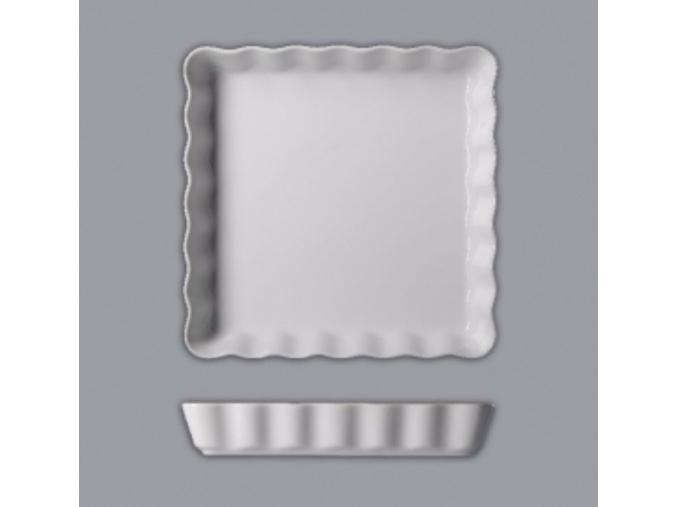 Mísa zapékací koláčová čtvercová, 24, bílá, Thun