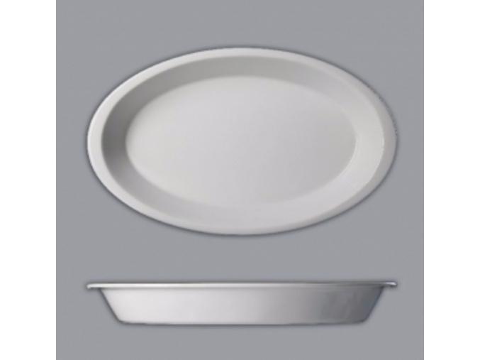 Mísa zapékací oválná, 39,5 cm, bílá, Thun