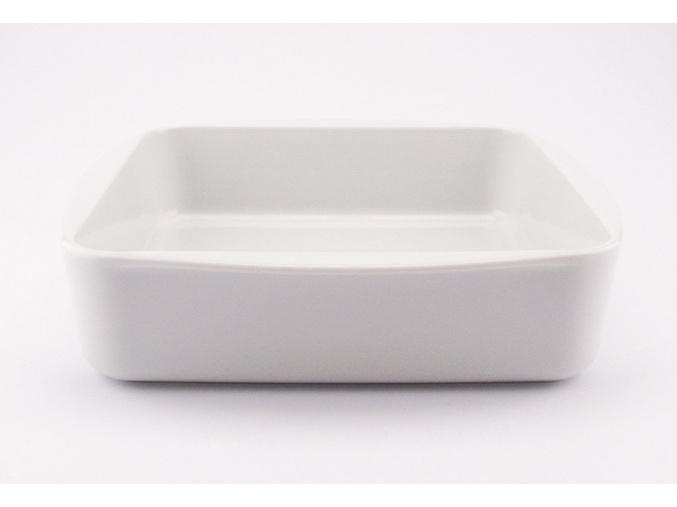 Zapékací mísa, porcelánová, bílá, 29x23,5 cm, G. Benedikt
