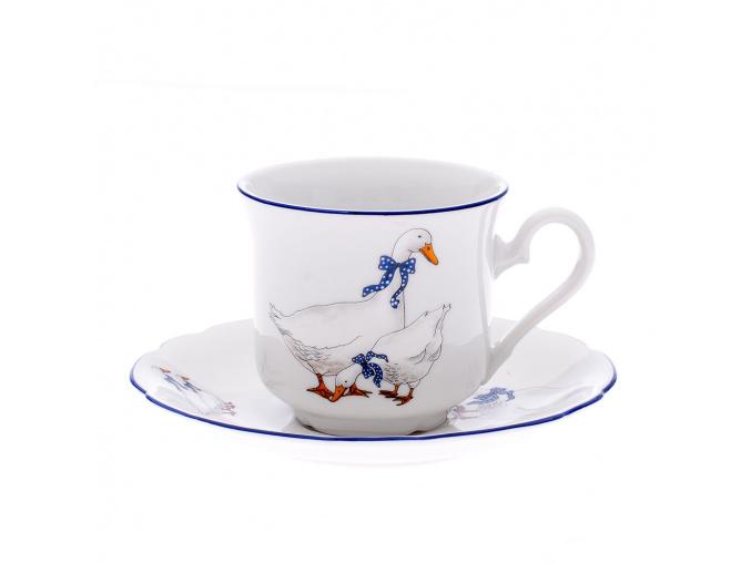 Mary-Anne, šálek s podšálkem na kávu, 0,15 l, karlovarský porcelán, Leander
