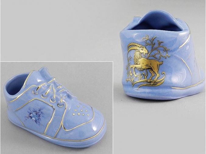dětská botička - kozoroh, modrý porcelán, Leander