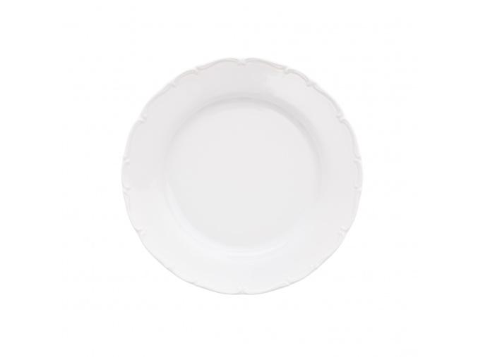 Talíř mělký, 25 cm, bílý porcelán, Ophelia/ Angelina, Thun Rulak Zettlitz