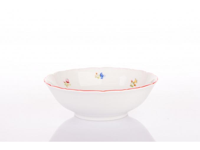 miska 16 hazenka s cervenym prouzkem porcelanovy svet