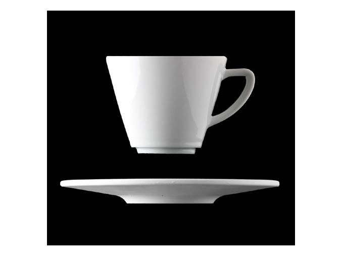 Šálek s podšálkem 280 ml, bílý porcelán, Pureline, Lilien
