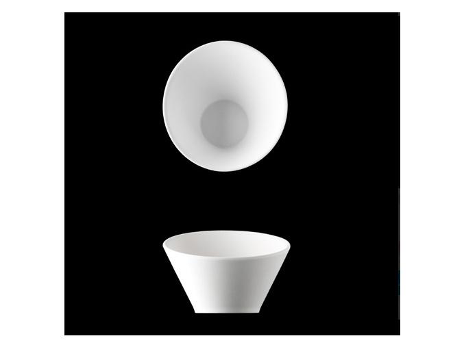 Miska seřízlá 14 cm, bílý porcelán, Pureline, Lilien