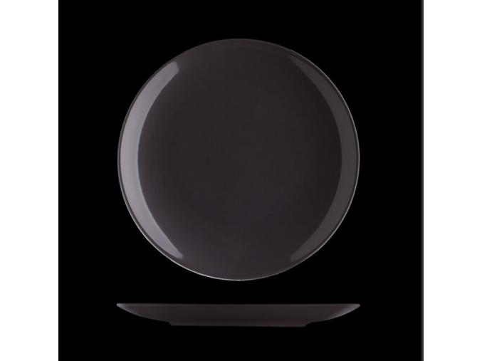 Talíř mělký 27 cm, český porcelán, Le Choco Noir, Suisse Langenthal