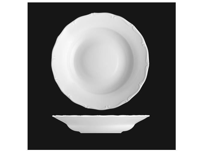 Talíř hluboký 24 cm, bílý porcelán, Verona, G. Benedikt