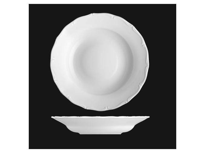 Talíř hluboký 30 cm, bílý porcelán, Verona, G. Benedikt