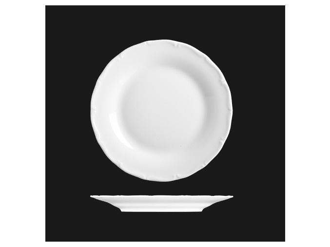 Talíř dezertní 19 cm, bílý porcelán, Verona, G. Benedikt